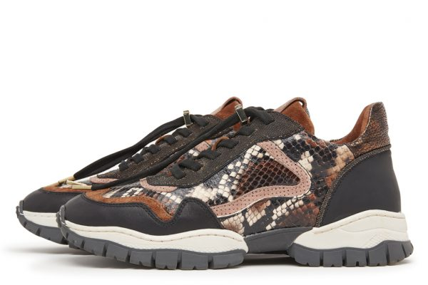 VIA VAI Sneakers med Slangeprint
